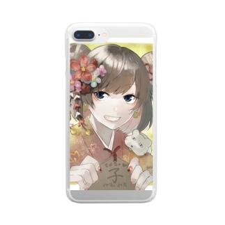 2020ねずみこ Clear smartphone cases