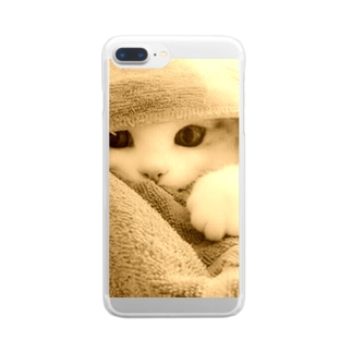 ごめんねこ。0115 Clear smartphone cases
