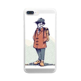 旅人くん Clear smartphone cases
