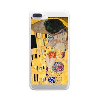 グスタフ・クリムト『 接吻(The Kiss) 』2 Clear smartphone cases