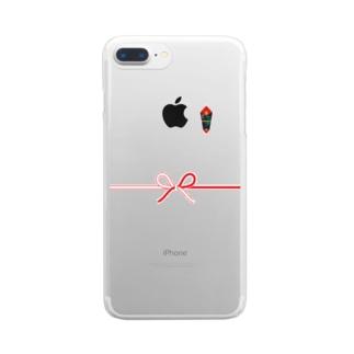 のし Clear smartphone cases