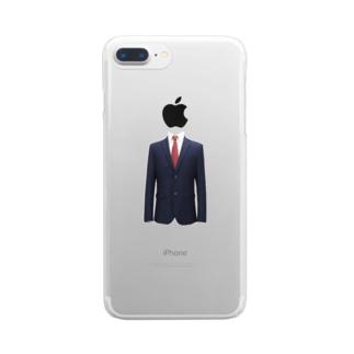 おもしろいシリーズ Clear smartphone cases