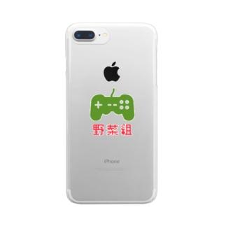 にっぽん野菜倶楽部グッズversion③ Clear smartphone cases