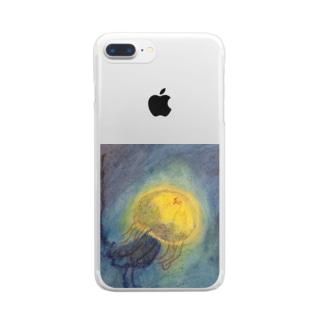 クラゲ Clear smartphone cases