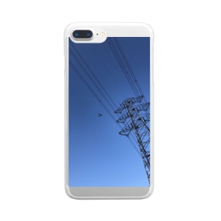 BLUE SKY COMPLEX Clear smartphone cases