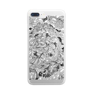 うねうね Clear smartphone cases