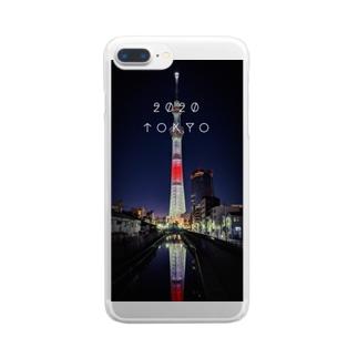 スカイツリー2020 Clear smartphone cases