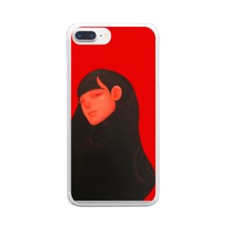 麗髪(うるかみ)シリーズ Clear smartphone cases