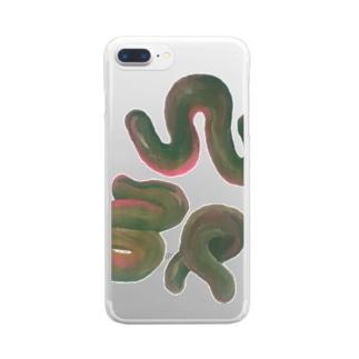 ピースオブ叱咤激励 Clear smartphone cases