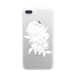 87の花 Clear smartphone cases
