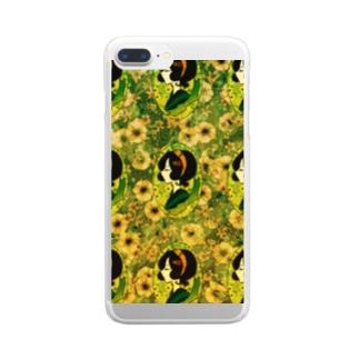 レトロちっくガール Clear smartphone cases