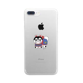 いぬはりこ Clear smartphone cases