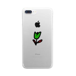 チューリップ Clear smartphone cases