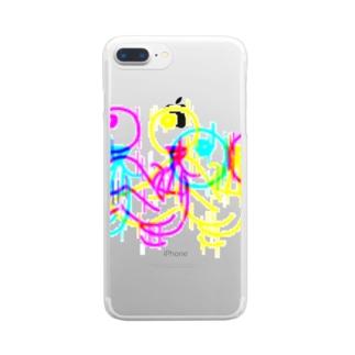ガンギマリウサギ(high) Clear smartphone cases