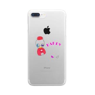 おいっこの好きなガチャガチャ【HAPPY】 Clear smartphone cases