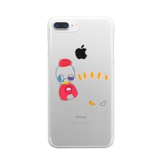 おいっこの好きなガチャガチャ【LUCKY】 Clear smartphone cases
