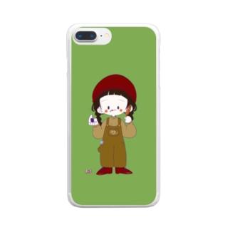あいぽんけーす〜~〜(緑) Clear smartphone cases