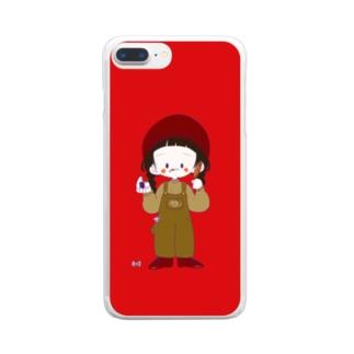 あいぽんけーす〜~〜(赤) Clear smartphone cases