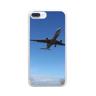 飛行機 Clear smartphone cases