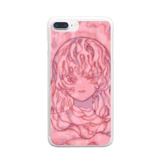 溶ける。 Clear smartphone cases