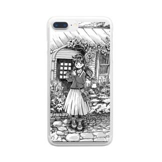 カメラとことみさん Clear smartphone cases