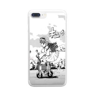 電動バイクとことみさん Clear smartphone cases