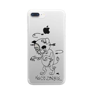 腐れネコ2 Clear smartphone cases