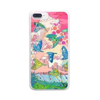 キッカケノトリ Clear smartphone cases