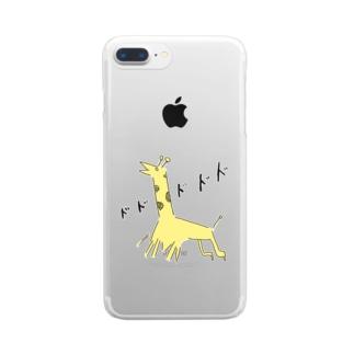 暴走するキリンさん Clear smartphone cases
