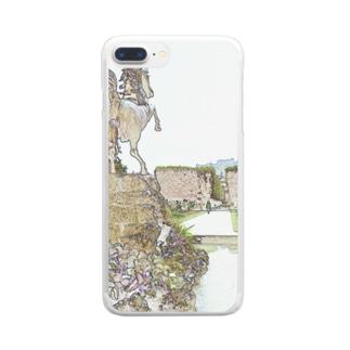 CG絵画:ミラベル宮殿 CG art: Schross Mirabell / Salzburg Clear smartphone cases