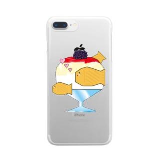 浅草浪花家コラボ・クリアスマホケース Clear smartphone cases