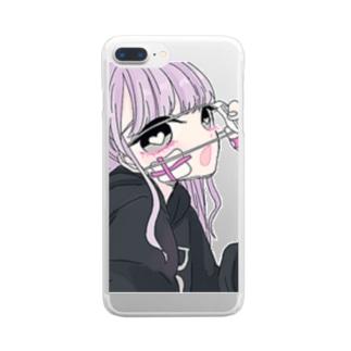 メンヘラ乙女 Clear smartphone cases
