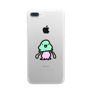 謎の宇宙人コペトン Clear smartphone cases