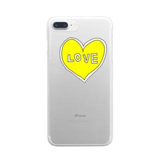 きいろいハートiPhone Clear smartphone cases