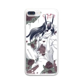鬱なira Clear smartphone cases