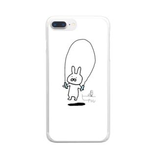 なわとびうさぎ/サイン Clear smartphone cases