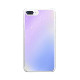 星の降る夜 Clear smartphone cases