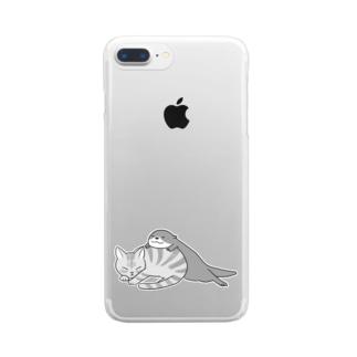 アティとにゃん先輩 スマフォケース Clear smartphone cases