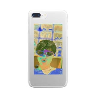 世界は狭い Clear smartphone cases