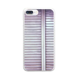 シャッター Clear smartphone cases