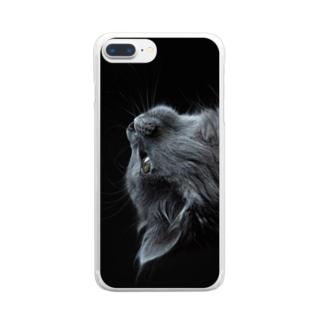 猫アイテム2 Clear smartphone cases