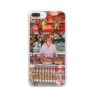 CG絵画:土産物店 CG art: Souvenier shop Clear smartphone cases