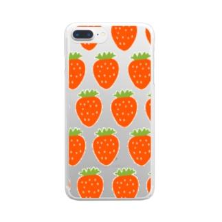 あゆかんのいちごいちごいちご Clear smartphone cases