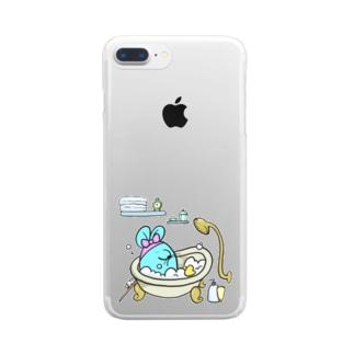 ねずみを洗え Clear smartphone cases