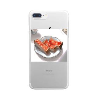 揺蕩う朝 Clear smartphone cases