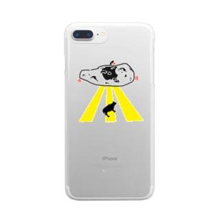 ふらいんぐなん Clear smartphone cases