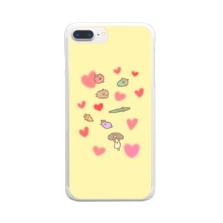 仲良し野菜のべじさんず Clear smartphone cases