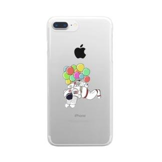 宇宙遊泳 Clear smartphone cases