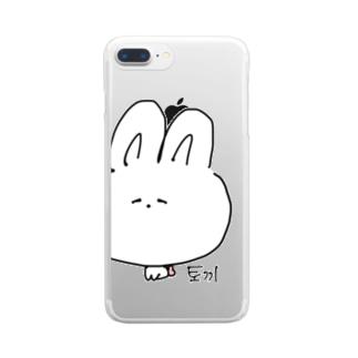 ドキドキ토끼 Clear smartphone cases