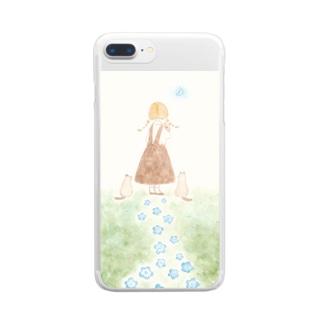 やさしい月 Clear smartphone cases